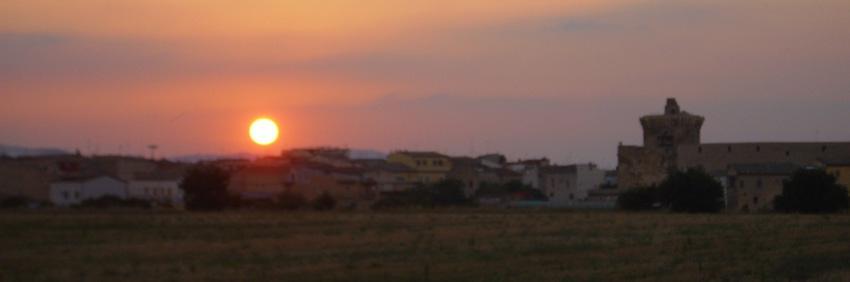 tramonto da Venosa bellissimo foto di tramonti
