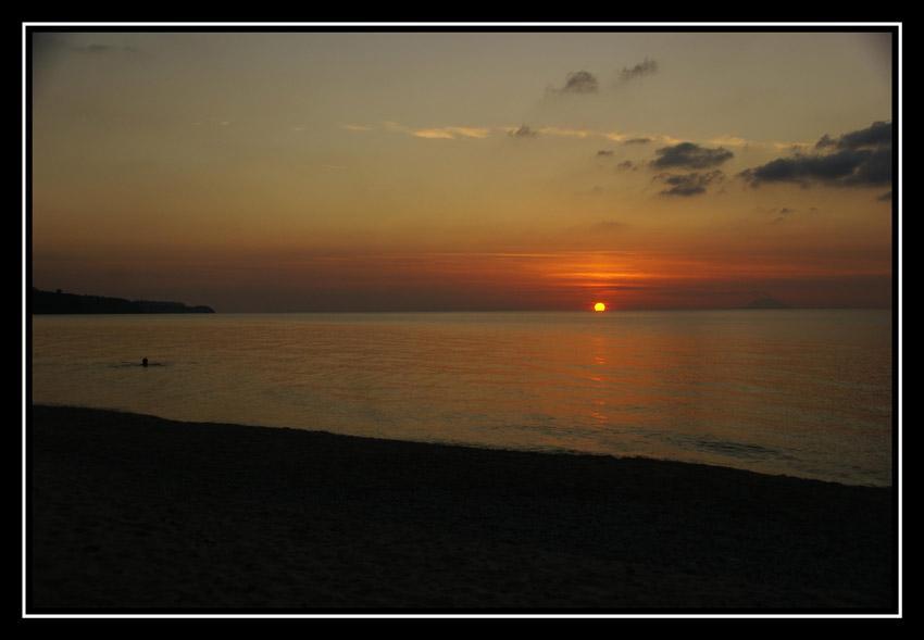 Tramonto da Tropea foto di tramonti dal mare